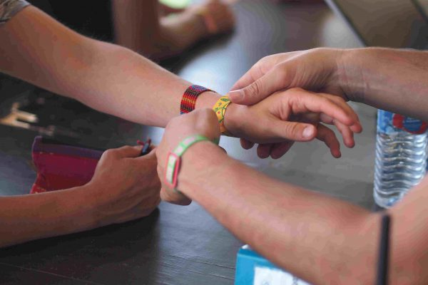 Check in with NFC wristbands