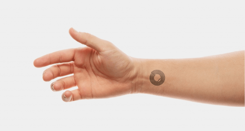Smart skin a new technology for identification. It´s ultra wearable and it was designed for big events and festivals